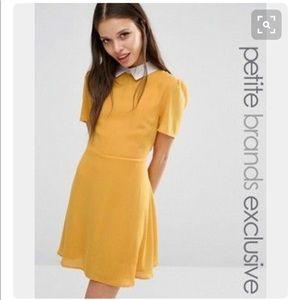 ASOS yellow collar dress